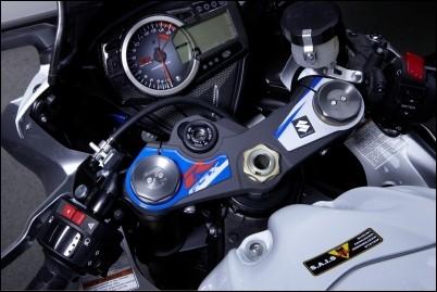 Gabelbrückendekor, Blau für Suzuki GSX-R1000 BJ. 2009-2011/ 2012-2016
