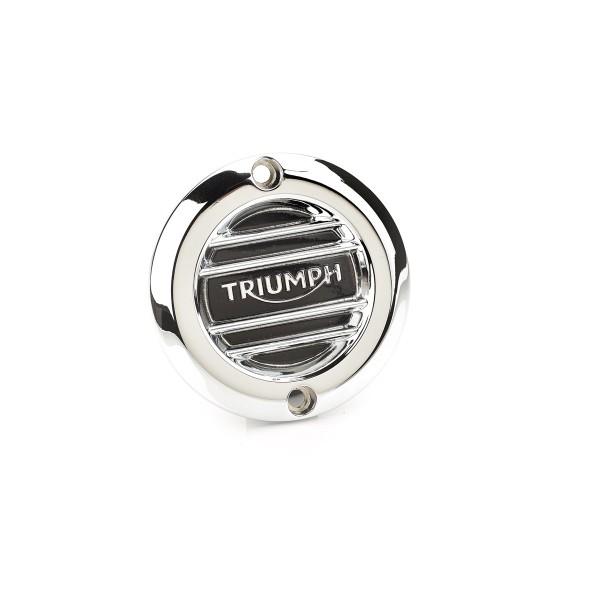 Triumph Kupplungsdeckel gerippt für Street Twin, Bonneville T120, Thruxton - chrom