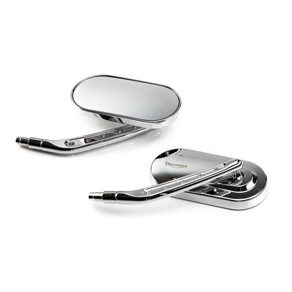 Triumph Oval Spiegel Kit für Thunderbird / Rocket / Amercia / Bonneville