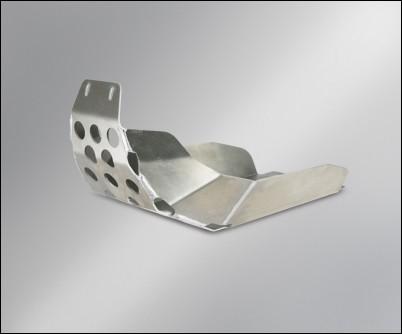 Unterfahrschutz, Silber, silberne Klemmung für Suzuki V-Strom 650 BJ. 2009-2011/ V-Strom 650 BJ. 200