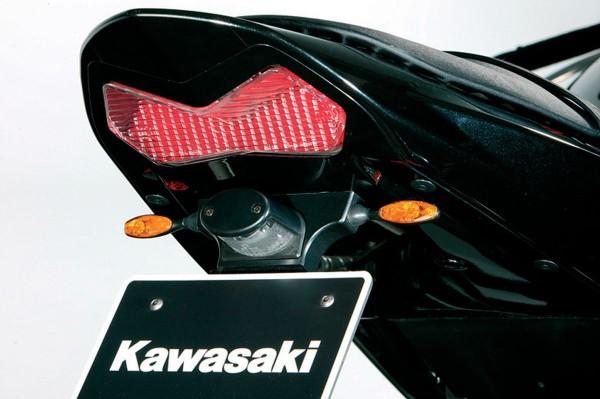 Micro-flasher set, satined back, chrome-plated Ninja ZX-6R 2004 / Z1000 2006 / Z750 2006 Original Kawa