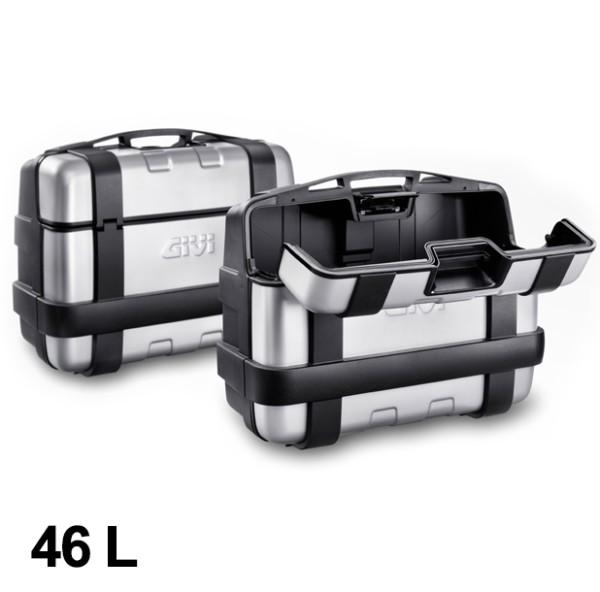 Givi suitcase set Trekker 46L black Alu Monokey
