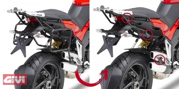 Givi Seitenkoffer Träger Ducati 1200 Multistrada Bj.10-13