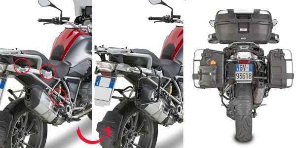 Side case carrier removable for BMW R 1200 GS Adventure (year 14-18) / R 1200 GS (year 13-18) / R 12