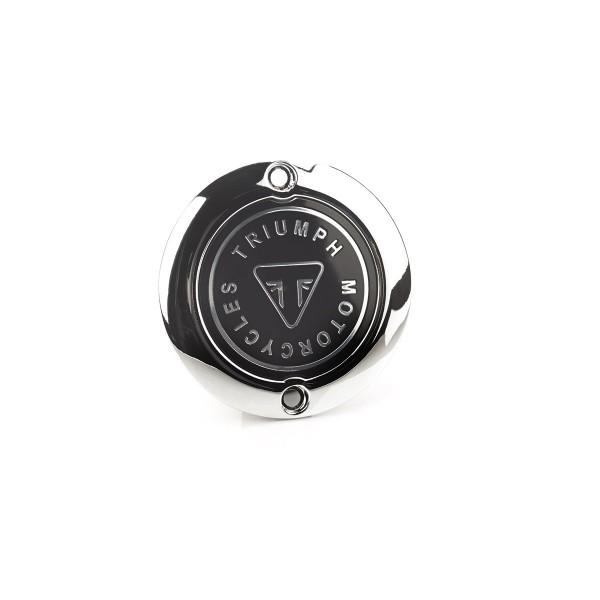 Triumph Kupplungsdeckel Logo für Street Twin, Bonneville T120, Thruxton - Chrom