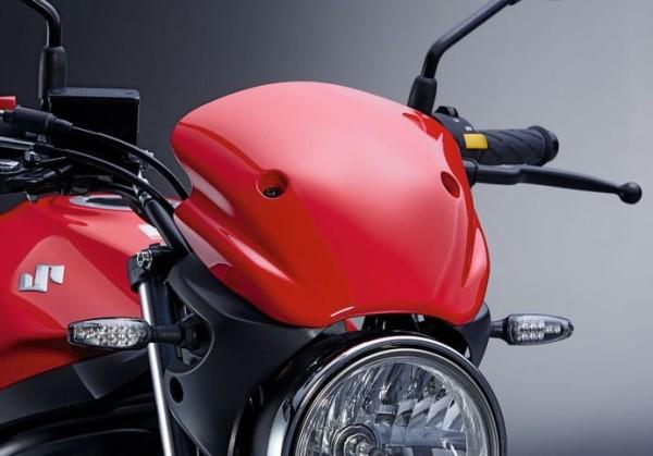 Windschild (rot) für Suzuki SV650 BJ. 2016-2017
