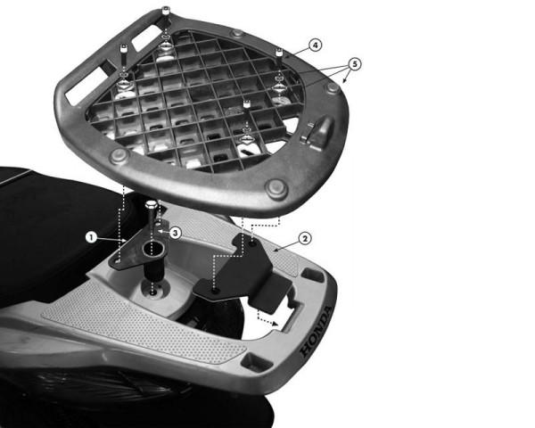 Top Case Carrier for Honda SH 300i (Bj.07-14) Original Givi