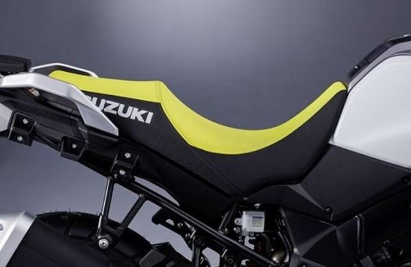 Niedrige Sitzbank, gelb/schwarz für Suzuki V-Strom 1000 BJ. 2017