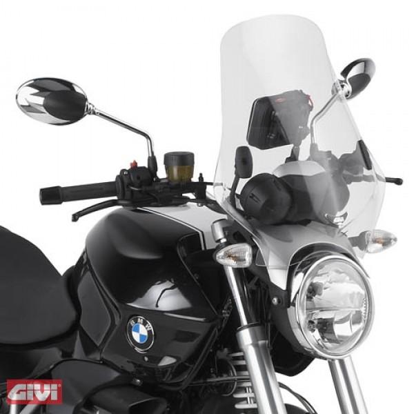Givi Windschild und Halter BMW R1200R Bj.11-