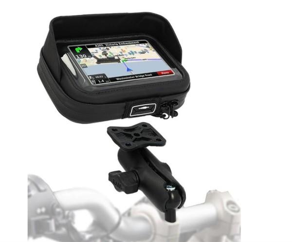 Navigationsgerätehalter (Halterung + Tasche) W800 2016 Original Kawasaki