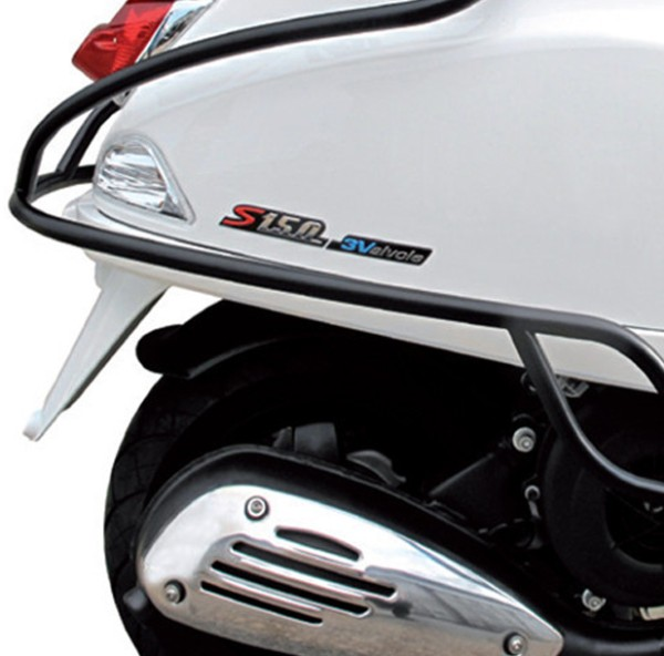 Crash bar rear black-matt Vespa S