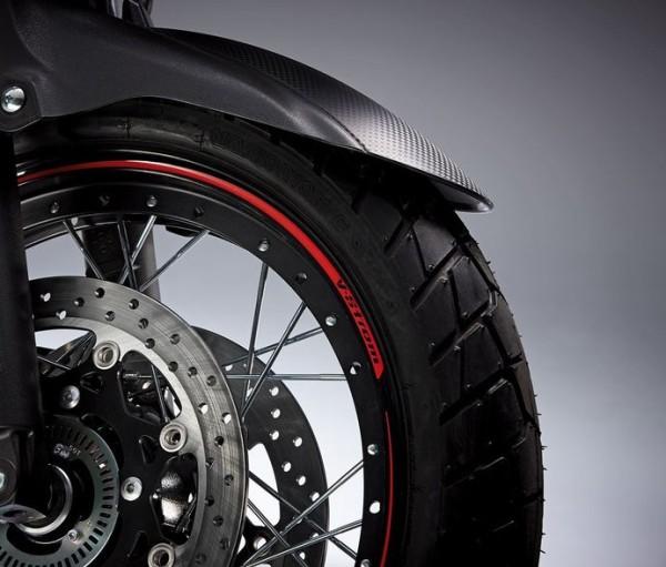 Felgendekor rot (Hinterrad) für Suzuki V-Strom 1000 BJ. 2017/ V-Strom 1000 BJ. 2014-2016/ V-Strom 65