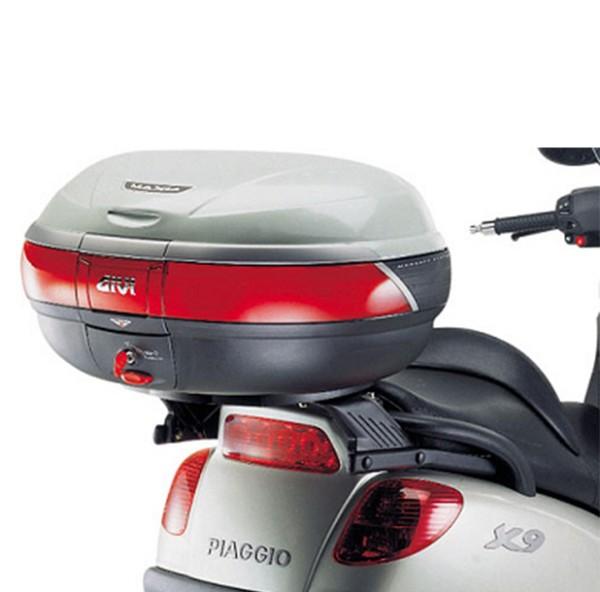 Givi top case carrier for Monokey suitcase / Piaggio X9