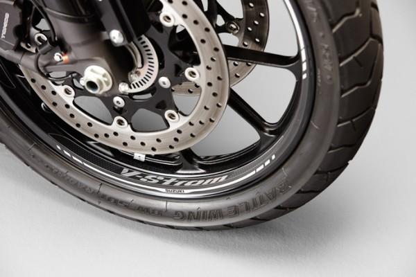 Felgendekor (Vorderrad) für Suzuki V-Strom 1000 BJ. 2017/ V-Strom 1000 BJ. 2014-2016/ V-Strom 650 BJ