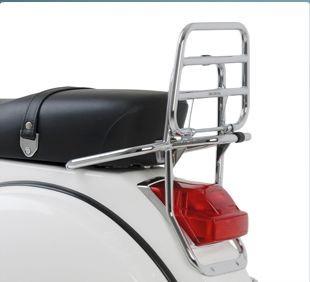 Original rear chrome rear luggage rack for Vespa PX