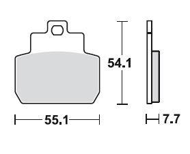 TRW Bremsbelagsatz, Sintermetall, mit ABE, MCB782SRM