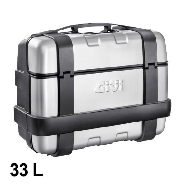 Trekker 33 Liter MONOKEY Case with Aluminum Cover Silver Original Givi