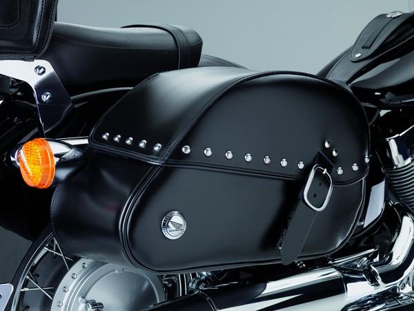 Original Honda VT750 Shadow Satteltaschen aus Leder, mit Nieten