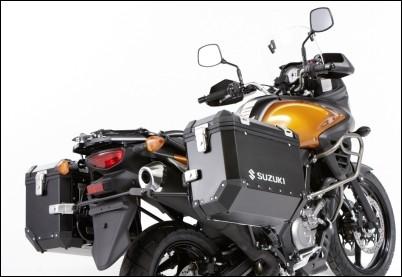 """Seitenkoffer """"Alu Box"""" schwarz für Suzuki V-Strom 650 BJ. 2012-2016"""