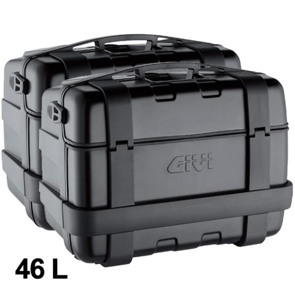 Givi suitcase set Trekker 46L black Monokey