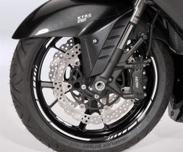 Wheel Rings GP Style green 1400GTR 2016 / ER-6f 2016 / Ninja ZX-6R 2016 / Z1000SX 2016 / Z300 2016 Origin