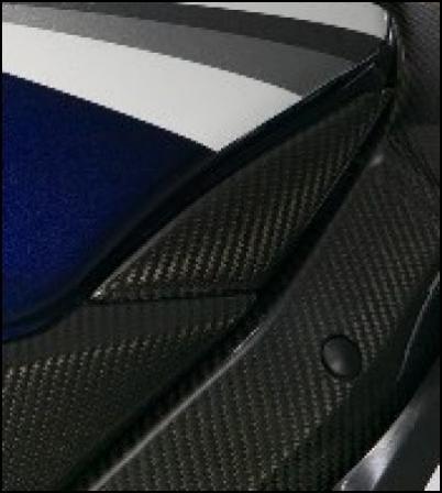 Seitliche Tankabdeckung, Carbon für Suzuki GSX-R1000 BJ. 2005 - 2006