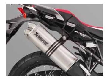 Honda Akrapovic Sportschalldämpfer für Africa Twin CRF1000L schwarz