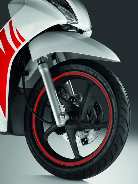 Original Honda PCX/ Vision50/ Vision110 Felgendekor Aufklebersatz rot