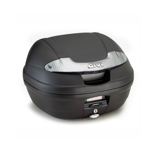E340 Vision Tech MONOLOCK topcase black with transparent reflectors and plate Original Givi