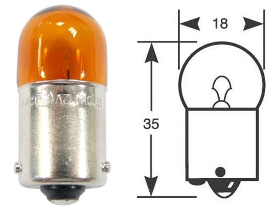 Ring Leuchtmittel, Glühlampe, 10-er Karton, 12 V, 10 W, BAU15s, orange
