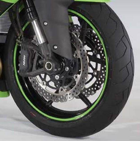 Rim rings Lime Green ER-6f 2008 / Ninja250R 2012 / Ninja300 2015 / Ninja ZX-10R 2010 / Ninja ZX-6R 200