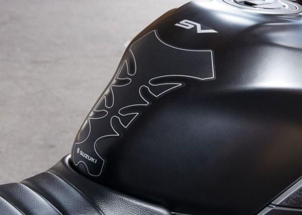 Tankpad, schwarz für Suzuki SV650 BJ. 2016-2017