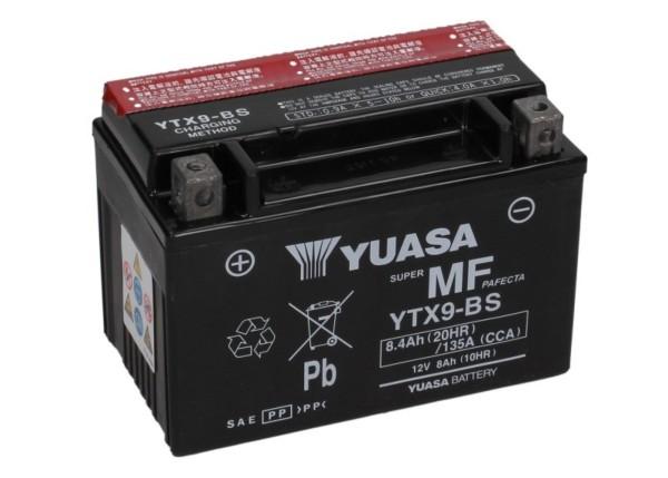 YUASA Batterie YTX 9-BS wartungsfrei (AGM) inkl. Säurepack