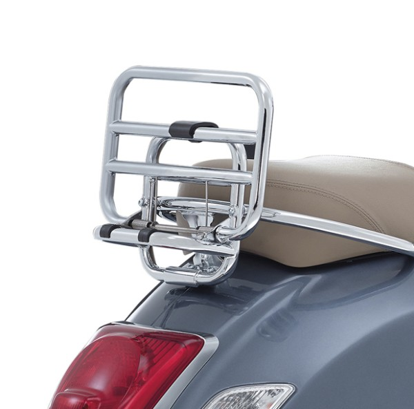 Original folding luggage carrier rear chrome Vespa GTS / SUPER top case