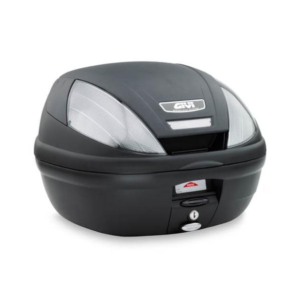 E370 TECH MONOLOCK Topcase with transparent reflectors and plate Original Givi