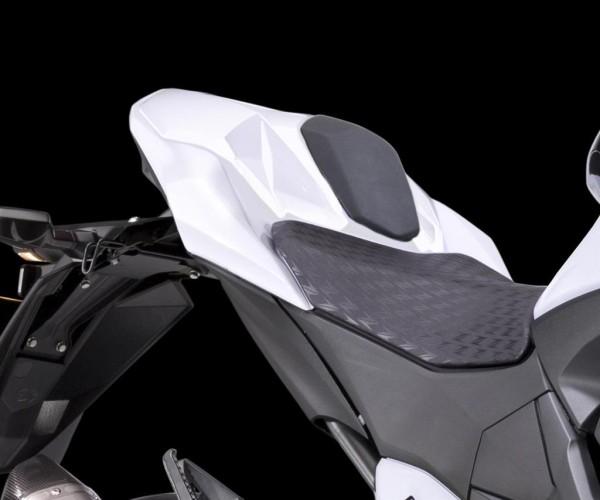 Abdeckung Soziussitz Pearl Stardust White Z800 2015 Original Kawasaki