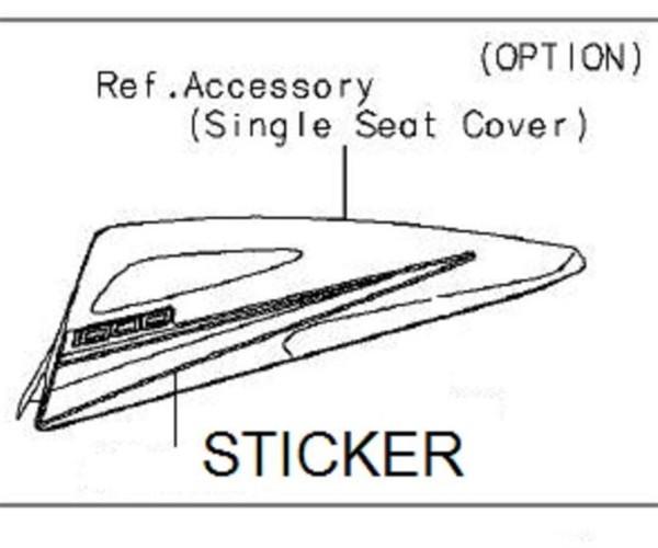 Sticker seatcover RH (For 777 Lime green) Ninja ZX-10R 2015 Original Kawasaki