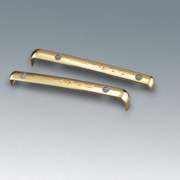 """Original Honda Gold Wing Ventildeckelemblem goldfarben, schwarzer """"Honda 1800"""" - Schriftzug"""