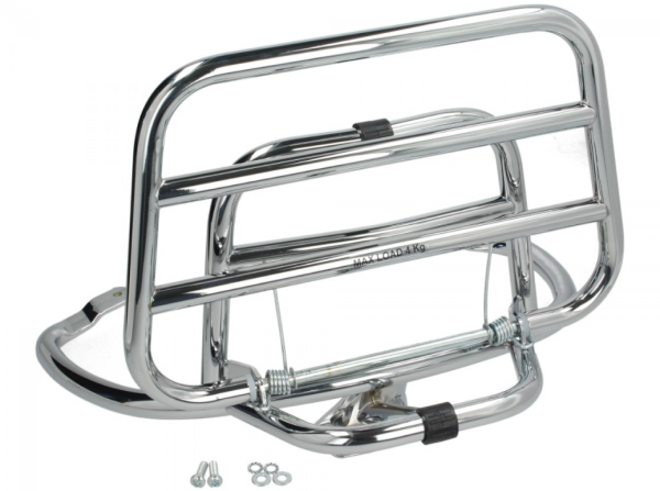 Folding rear rack Vespa Primavera / Sprint / Elettrica - chrome