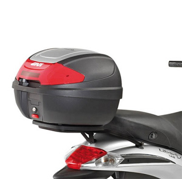 Givi topcase carrier black for Monolock suitcase Piaggio Liberty 50-125-150 (from yoc 2009)