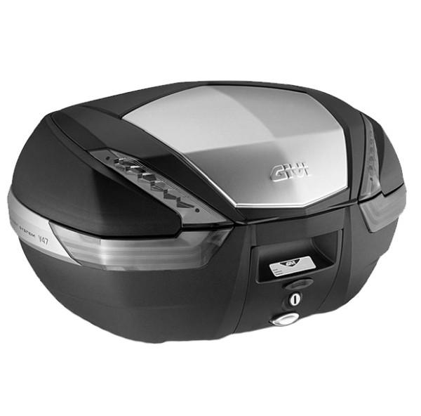 V47 TECH MONOKEY Topcase 47 liters black / alu with transparent reflectors Original Givi