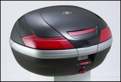 Lackierte Abdeckung - Top-Case 47 Liter, schwarz für Suzuki GSF650 BJ. 2005-2006/ GSF650 BJ. 2007-20