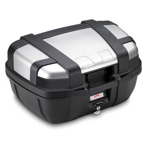 Trekker 52 liter MONOKEY top case with aluminum cover silver Original Givi