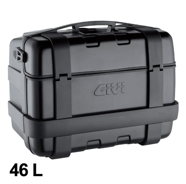 Trekker 46 Liter MONOKEY Koffer mit Alu Cover schwarz Original Givi