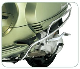 Original side crash bars chrome Vespa LX / LXV