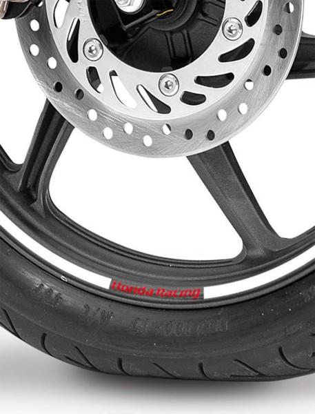 Original Honda CB 650 F/ CBR 650 F/ CBR125R Felgendekor Aufklebersatz silber