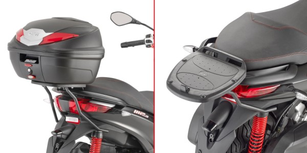 Givi topcase carrier black for Monolock case / Piaggio MP3 125-300 Yourban - year 11-