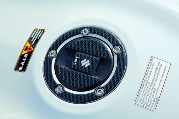 Tankdeckelschutz, Carbon Optik für Suzuki GSX-R1000 BJ. 2005 - 2006/ 2007-2008/ 2009-2011/ 2012-2016