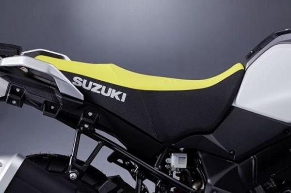 Hohe Sitzbank, gelb/schwarz für Suzuki V-Strom 1000 BJ. 2017