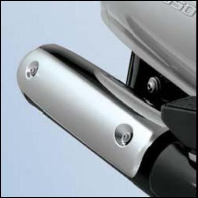 Auspuffblende, Chrom für Suzuki Burgman AN650 BJ. 2007-2012/ Burgman AN650 BJ. 2005-2006/ Burgman AN